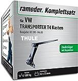 Rameder Komplettsatz, Dachträger SquareBar für VW TRANSPORTER T4 Kasten (116336-01631-6)