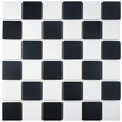 Somertile Fkosq035 Cavalier Quad Checkerboard Porcelain Floor And