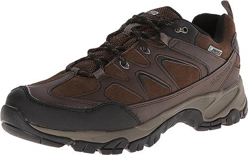 HI-TEC Mens Ridge Low Waterproof I Ankle-High Leather Hiking Shoe