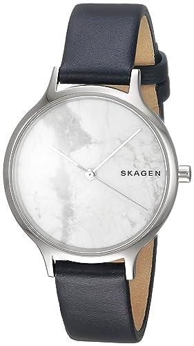 Skagen Reloj Analógico para Mujer de Cuarzo con Correa en Cuero SKW2719: Amazon.es: Relojes