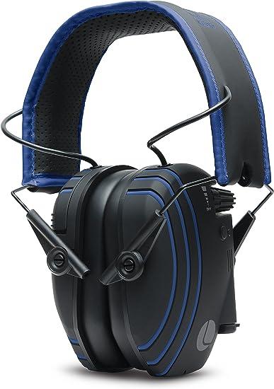 Amazon Com Lucid Audio Hlt Bt H Ph Bl Ba Amped Sound Amplifying Bluetooth Wireless Hearing Headphones Black Blue Electronics
