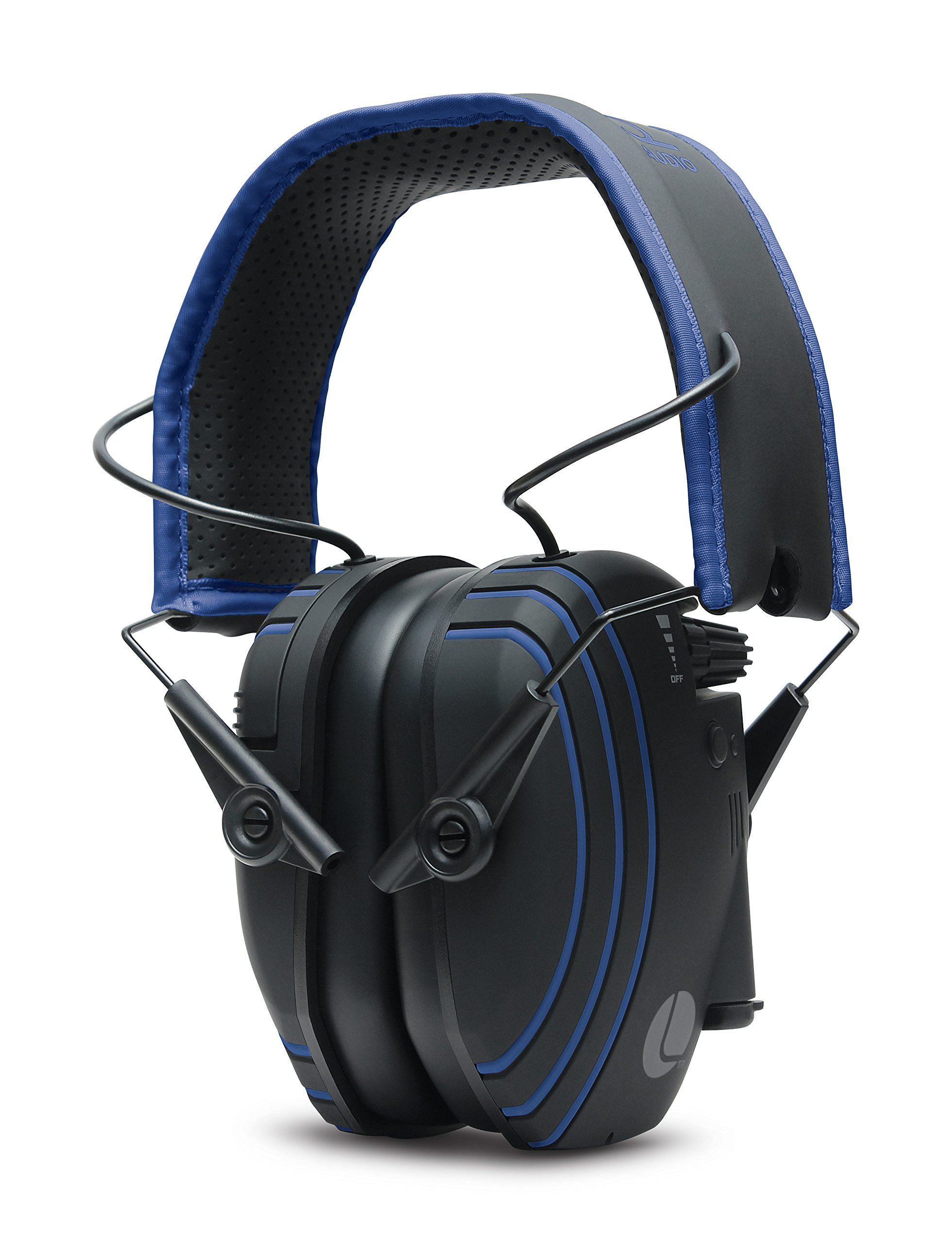 Lucid Audio AMPED Sound Amplifying Bluetooth Wireless Hearing Headphones - Black/Blue