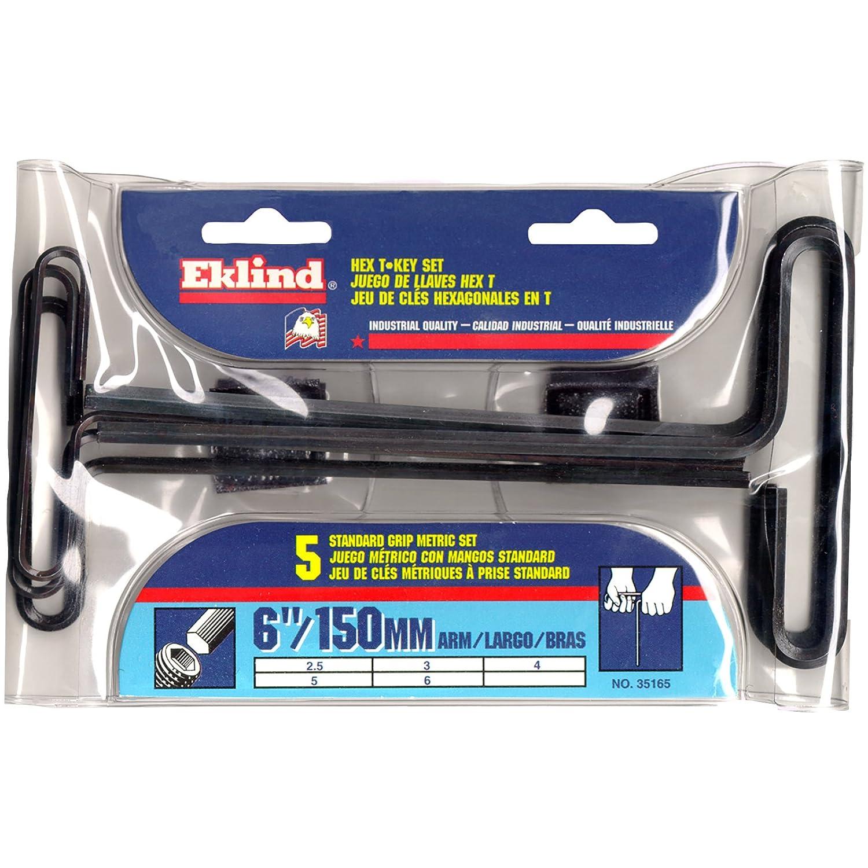 Eklind 35165 Metric 5pc T-Handle Hex Key Set 3mm to 10mm 6-Inch