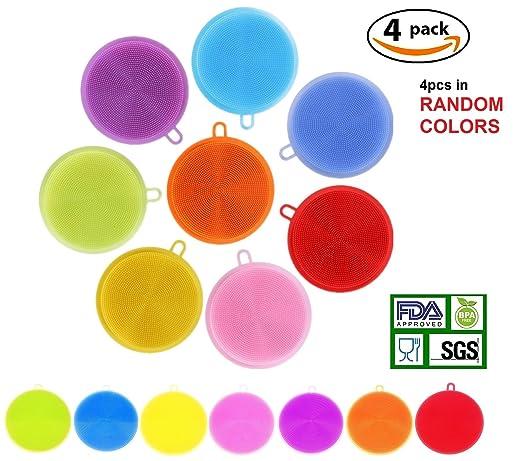 48 opinioni per Silicone Sponge scrubber- COLJOY food-grade silicone antibatterico spazzola