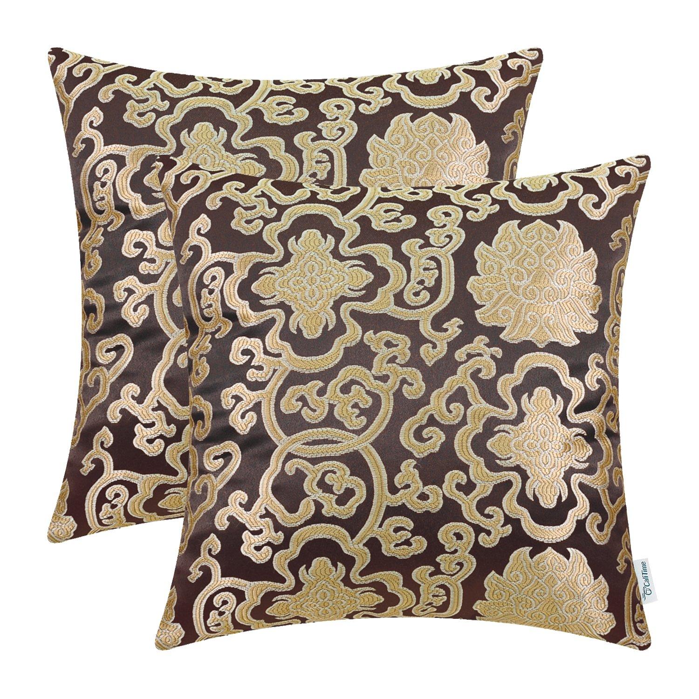 2パック calitimeソフトスロー枕カバーケースソファソファホーム装飾
