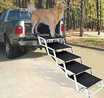 Folding Portable Dog /& Cat Access Perfect for Beds and Cars Multicolor Non Slip Free Standing Wide Ramp,35x70cm Snlaevx Adjustable Solid Wooden Pet Ramp Car Dog Ladder