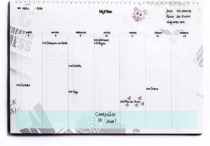 Agenda Planificador Semanal A3 43x30 - Organizador de Tareas y ...