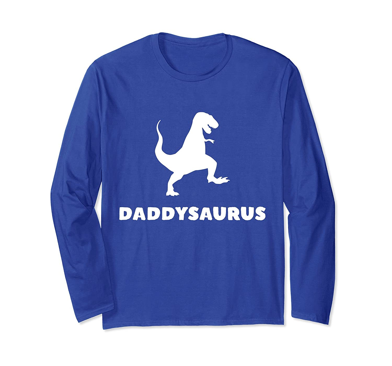 Daddysaurus Shirt Fathers Day Dad Gifts Long Sleeve T-shirt-mt