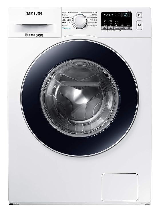 Samsung 7 Kg 5 Star Inverter Fully Automatic Front Loading Washing Machine  WW70J42G0BW/TL, White, Hygiene Steam  Washing Machines   Dryers