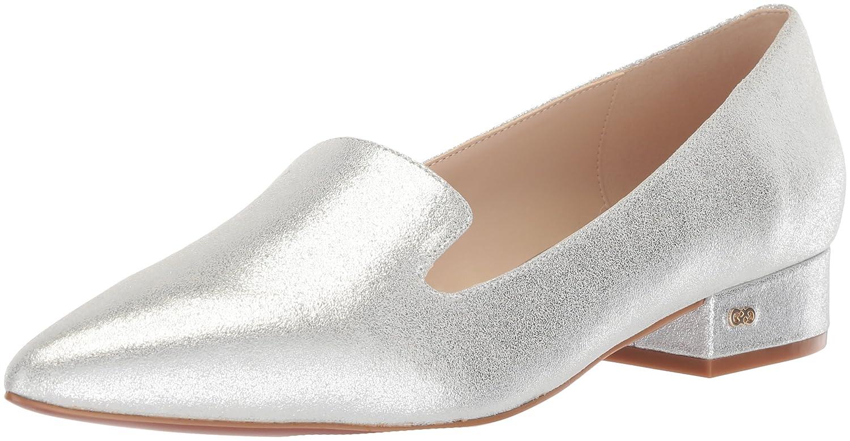 Cole Haan Women's Arlyss Skimmer Ii Ballet Flat B079YPNZ47 9 B(M) US|Silver Shimmer Metallic Leather