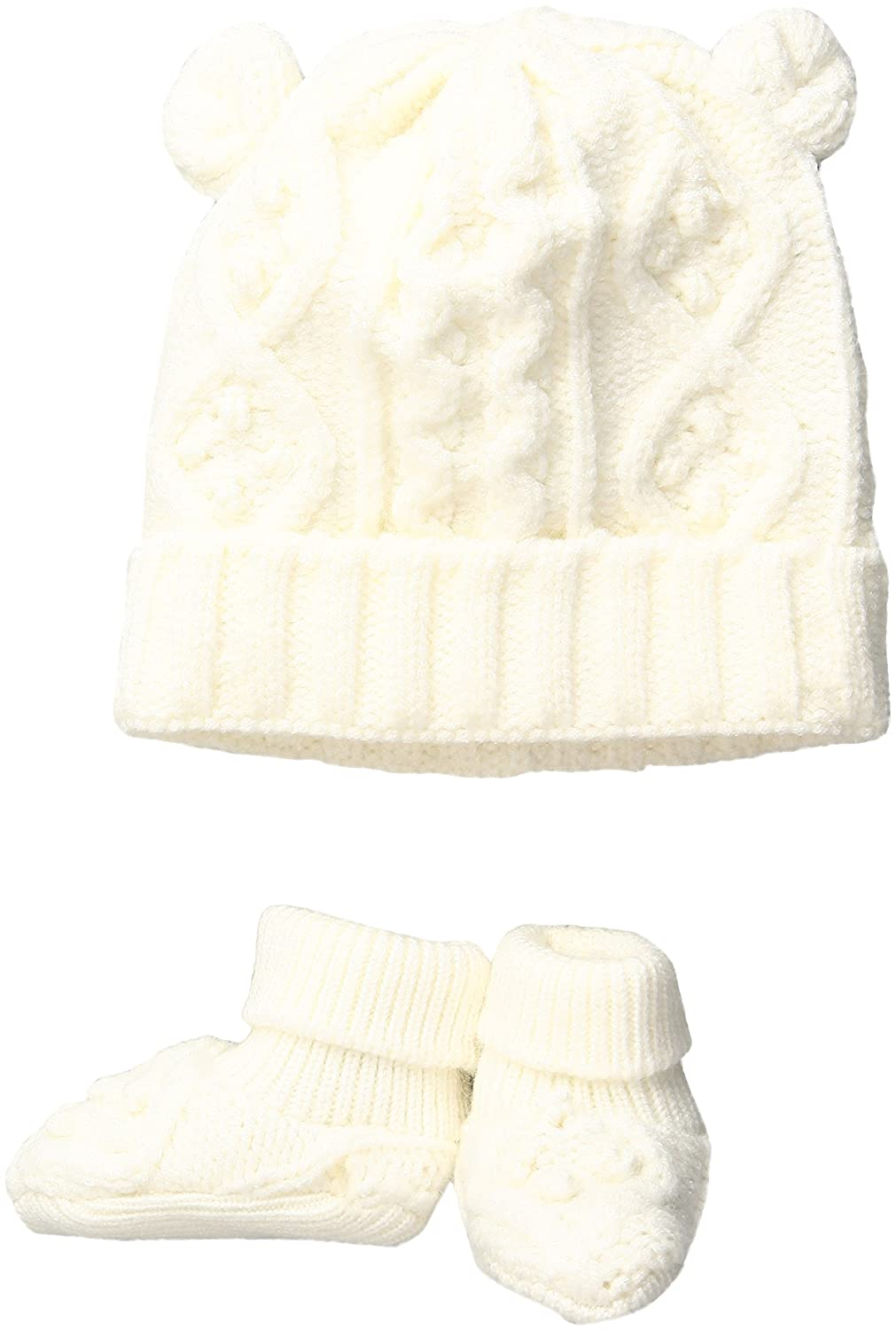 434b40d8e0b Amazon.com  Toby   Company Baby Nygb Cable Knit Hat   Booties Set ...