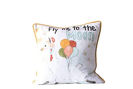 Amazon.com: Creative Coop Fly Me to The Moon - Almohada ...