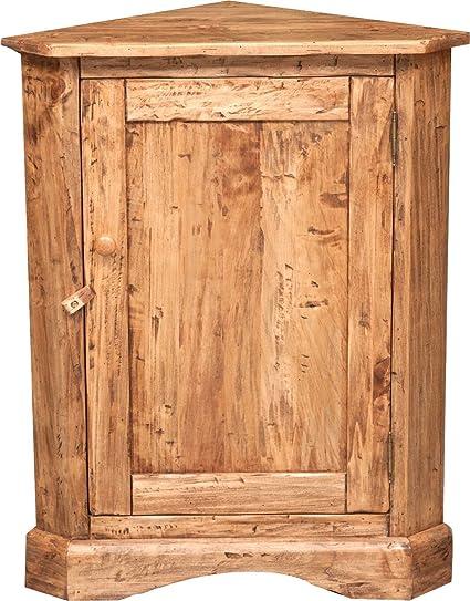 Angoliera Country in legno massello di tiglio finitura naturale ...