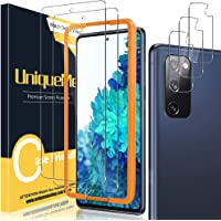 [2+3 Pack] UniqueMe Compatible for Samsung Galaxy S20 FE 5G/4G 6.5 inch Screen Protector and Camera Lens Protector [Easy…