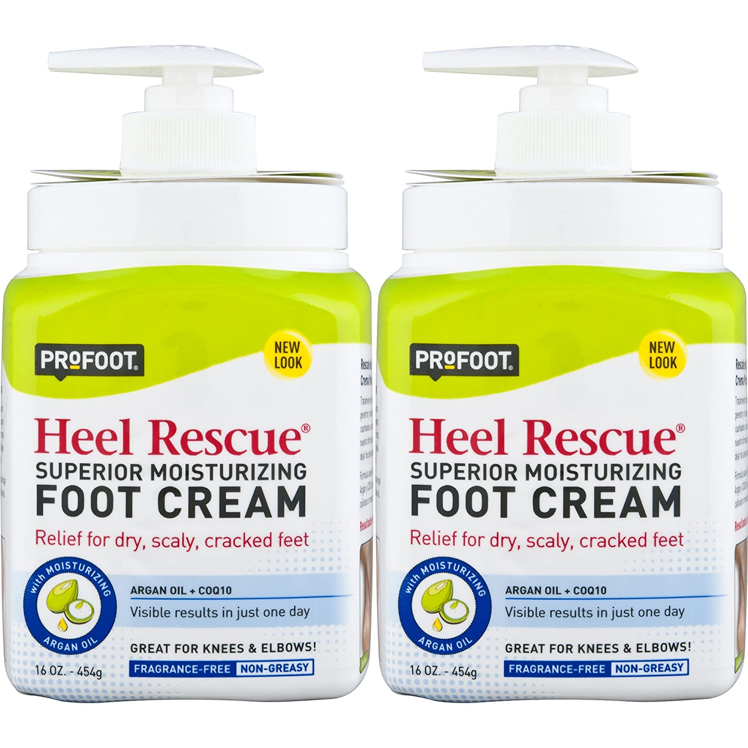 PROFOOT Heel Rescue Foot Cream, 16 Ounce (Pack of 3) Non-Greasy Foot Cream Ideal for Cracked Skin Calloused Skin or Chapped Skin on Feet Heels Elbows and Knees, Penetrates Moisturizes and Repairs Profoot Care 1253