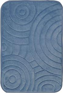 """Home Dynamix Indulgence Bliss Bath Mat, 20"""" x30, Steel Blue"""