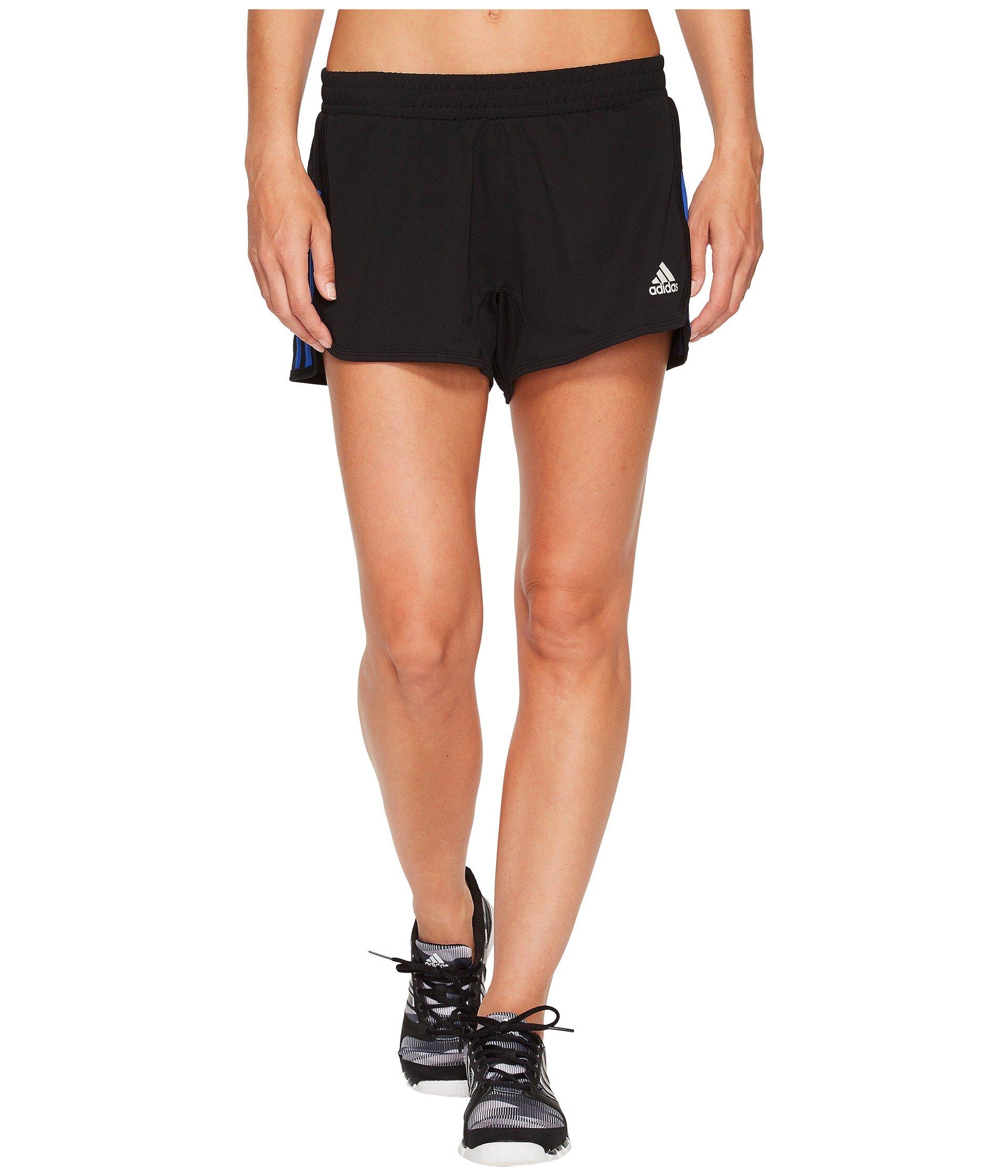 adidas Women's D2m Knit Shorts Black/High-Res Blue Large 3