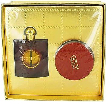 49ea14d6570 Image Unavailable. Image not available for. Color: Yves Saint Laurent Opium  Gift Set Eau de Parfum Spray 3 oz & Body Cream 6.7