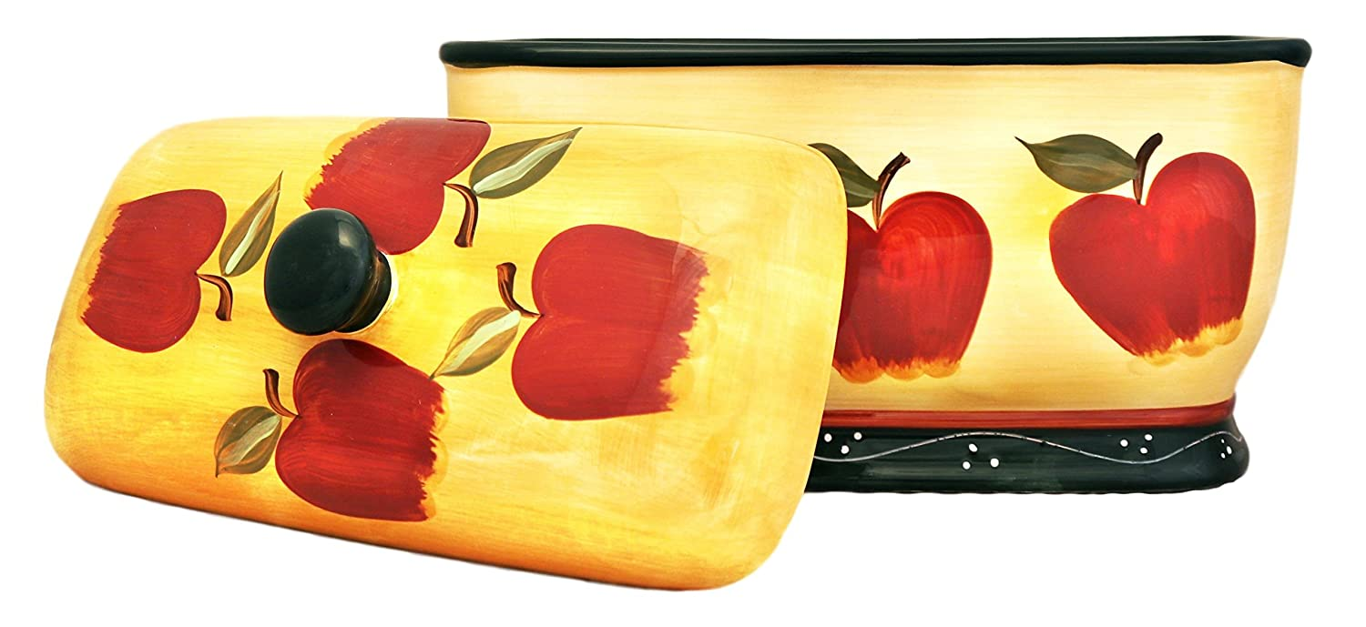 Country Apple Bread Box