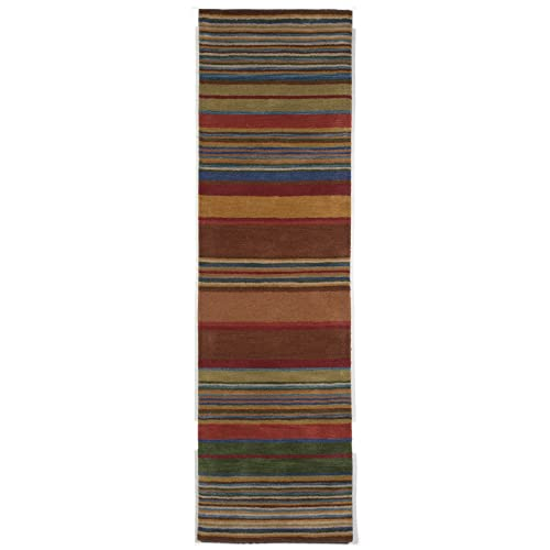 Liora Manne IN0R8A28044 Inca Stripe Rug, 27-Inch by 8-Feet, Multi