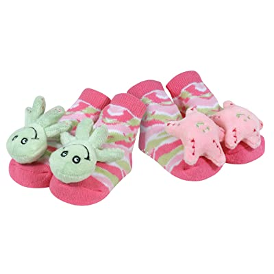 Stephan Baby Go Fish Rattle Socks, Octopus and Pink Starfish : Baby