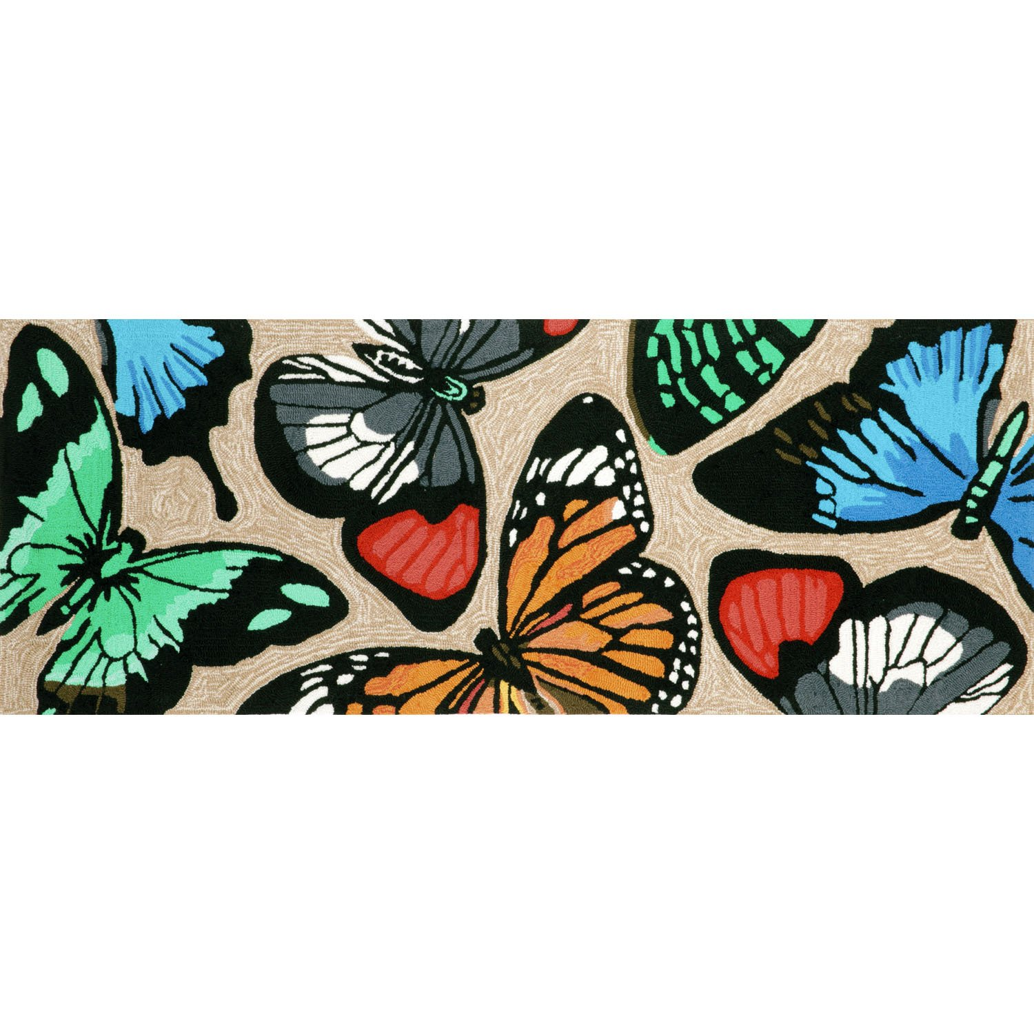 Liora Manne FT1R6A78944 Whimsy Colorful Flight Rug, Indoor/Outdoor, 27'' x 72'', Multicolor