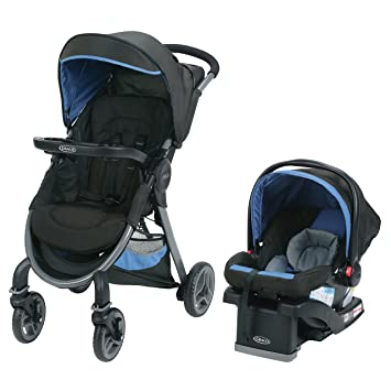 9c821e71cf9e Graco FastAction 2.0 Click Connect Travel System with SnugRide Click  Connect 35 Infant Car Seat - SECK35 Jaguar  Amazon.ca  Baby