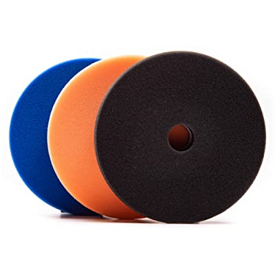 "Lake Country 5.5"" x 1"" HDO Polishing Kit (Blue, Orange, Black): Automotive"