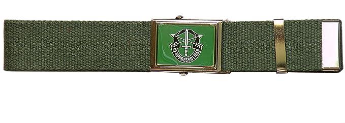 SBB Cinturón Special Forces gorras verdes USA hebilla vitrificada ...