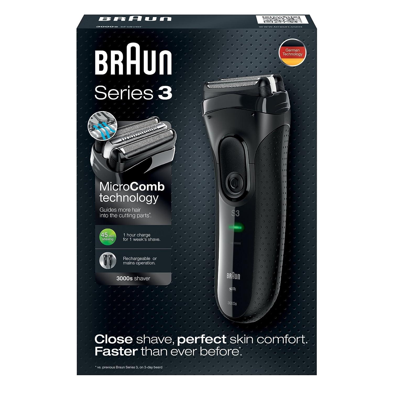 Braun Series 3 ProSkin 3000s - Afeitadora eléctrica para hombre ... 15704327bdf1