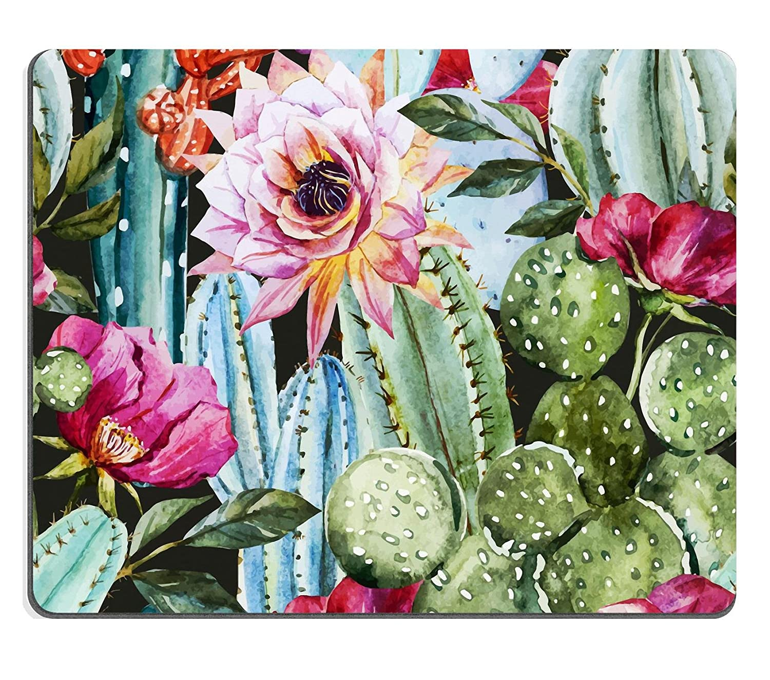 Luxlady Gaming Mousepad ID: 42714269 Beautiful image with nice watercolor cactus lovely