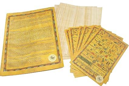 amazon com set 10 egyptian papyrus paper 6x8 inch 15x20 cm