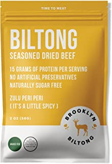 product image for Biltong Beef Jerky - Grass Fed Seasoned Dried Beef - 2oz Peri Peri