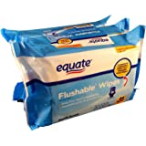 Equate Flushable Wipes 3-pack (48ct ea) Compare to Cottonelle Fresh Flushable Wipes 7.0 x 5.25 IN(17.7x13.3cm)