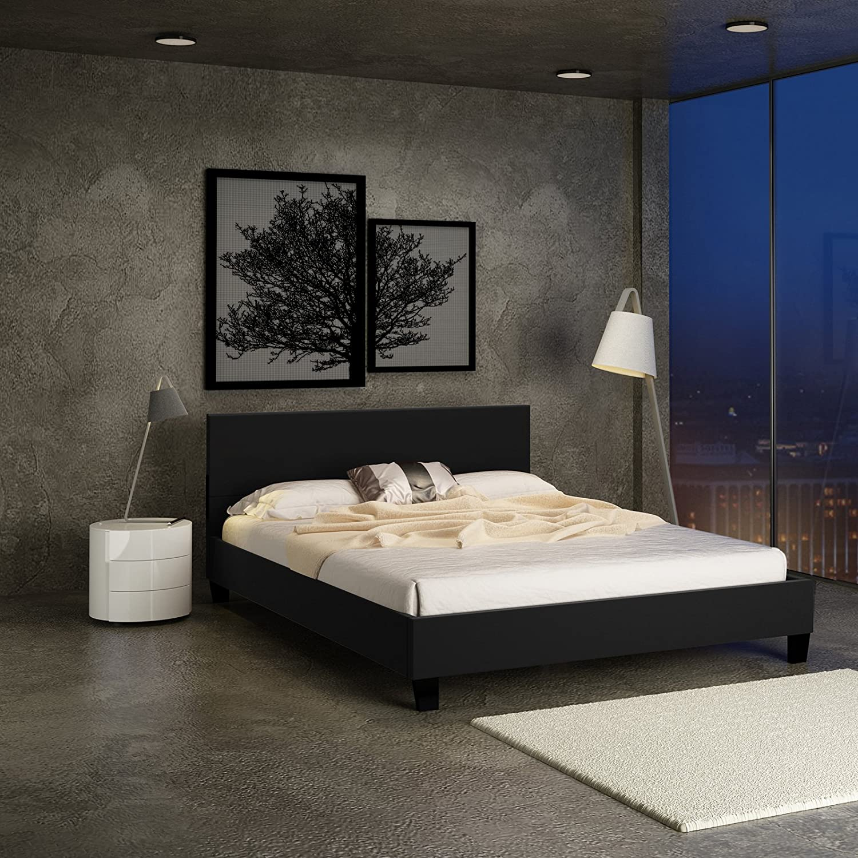 Miadomodo Doppelbett Polsterbett mit integriertem Lattenrost, 180 x ...