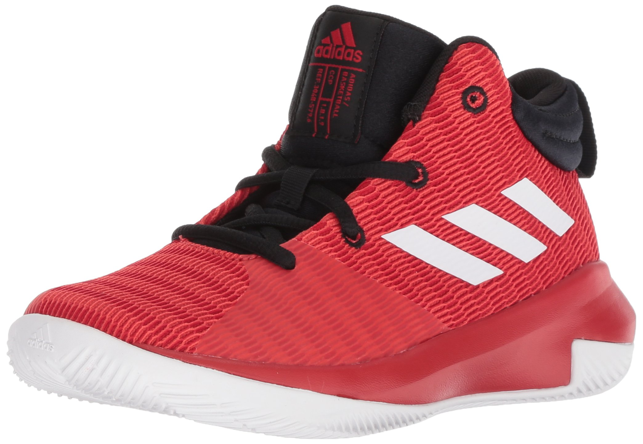 adidas Unisex Pro Elevate 2018 Basketball Shoe, Scarlet/White/Black, 7 M US Big Kid