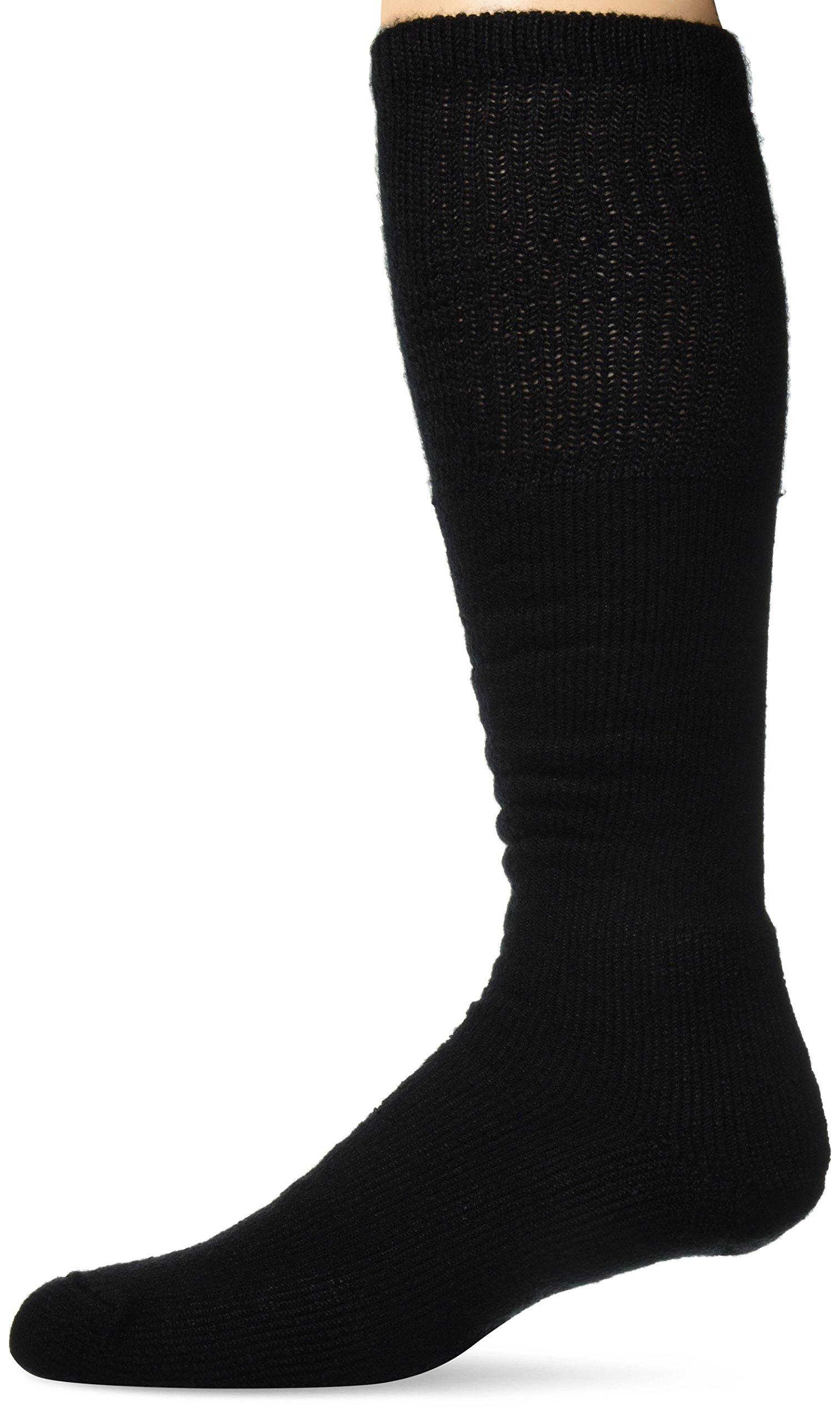 Thorlos Unisex WBO Work Thick Padded Over the Calf Sock, Black, Large