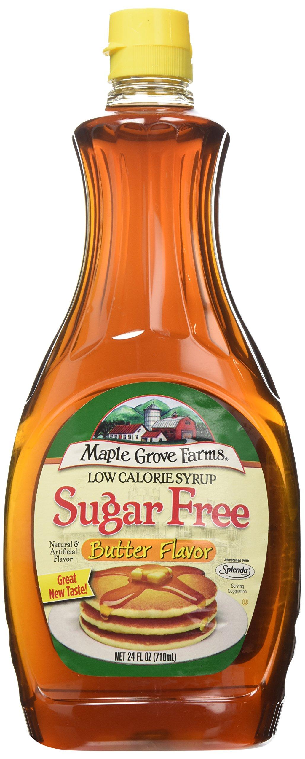 Amazon Com Maple Grove Farms Syrup Sugar Free 24