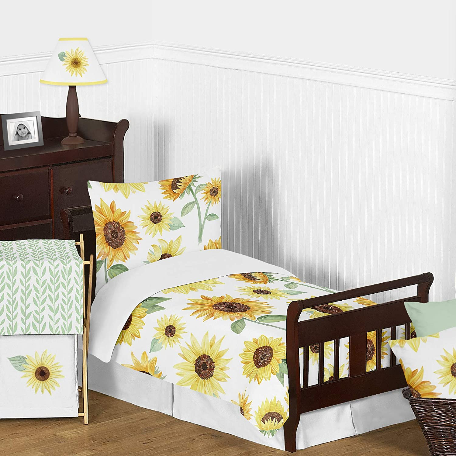 Sweet Jojo Designs Yellow Farmhouse Watercolor Flower ...