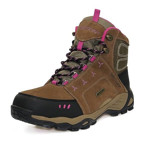 4240e90300f69 Mujer Botas de montaña Al Aire Libre Viajero Impermeable La Seguridad Cima  mas Alta Mochilero Zapatos para Caminar Señoras Trekking  Amazon.es   Zapatos y ...
