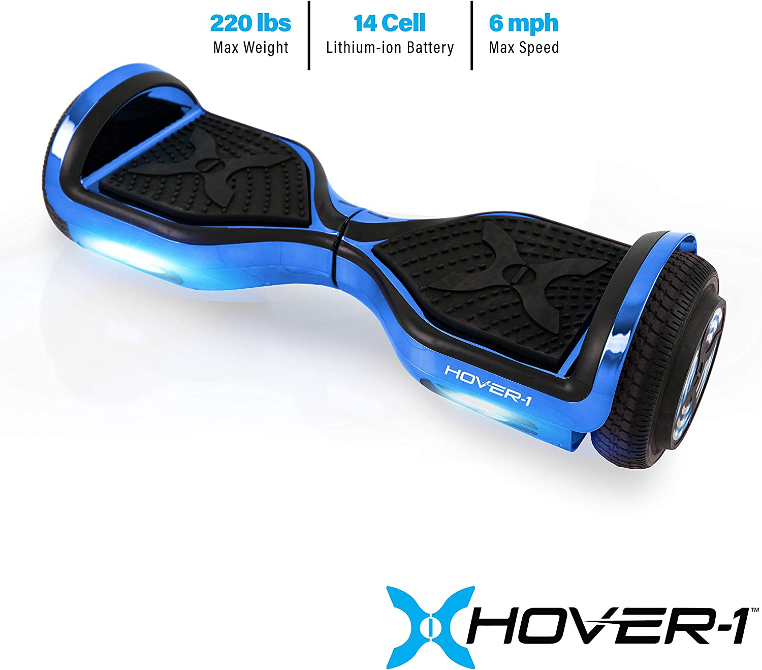 Hover-1 Chrome Electric Hoverboard Scooter blue / US