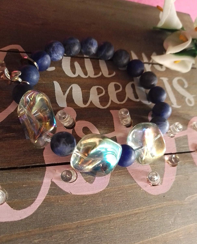 Pulsera de Piedras lapizlazuli y Cristal de Murano