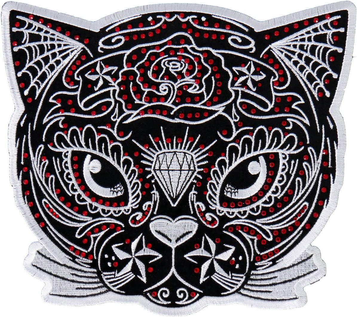 SUGAR CAT Heat Sealed Backing Rayon PATCH High Quality Iron-On // Saw-On 4 x 4