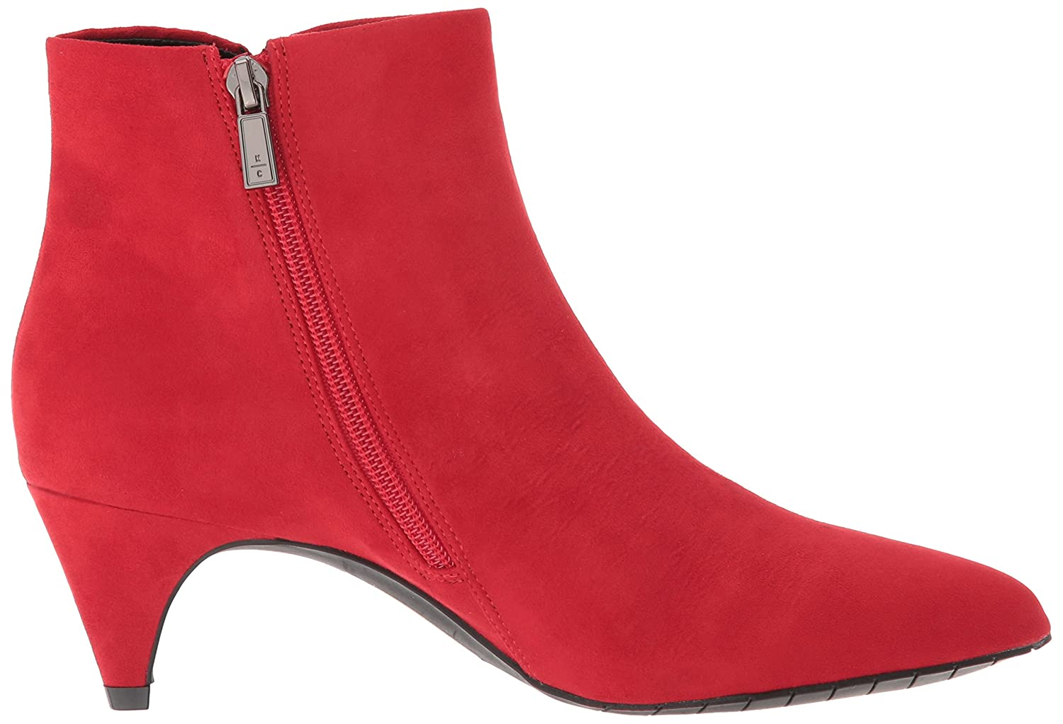 Kenneth Cole REACTION Women's Kick Bit Kitten Heel Bootie Ankle Boot B079G2SNDX 7 B(M) US|Red