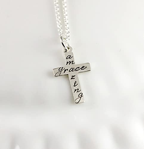 f440749b46507f Amazon.com: Amazing Grace Necklace - Sterling silver: Handmade