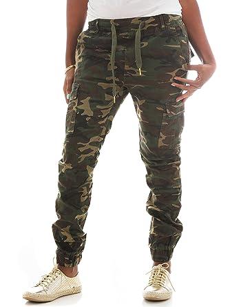 01da2b2e89 Riflessi Women's Skinny Stretch Twill Cargo Jogger Pants at Amazon ...
