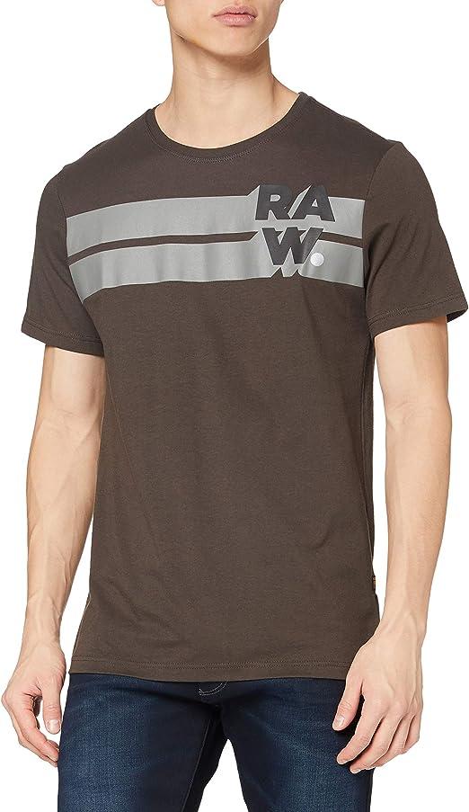 G-STAR RAW Raw Stripe Graphic Camiseta para Hombre