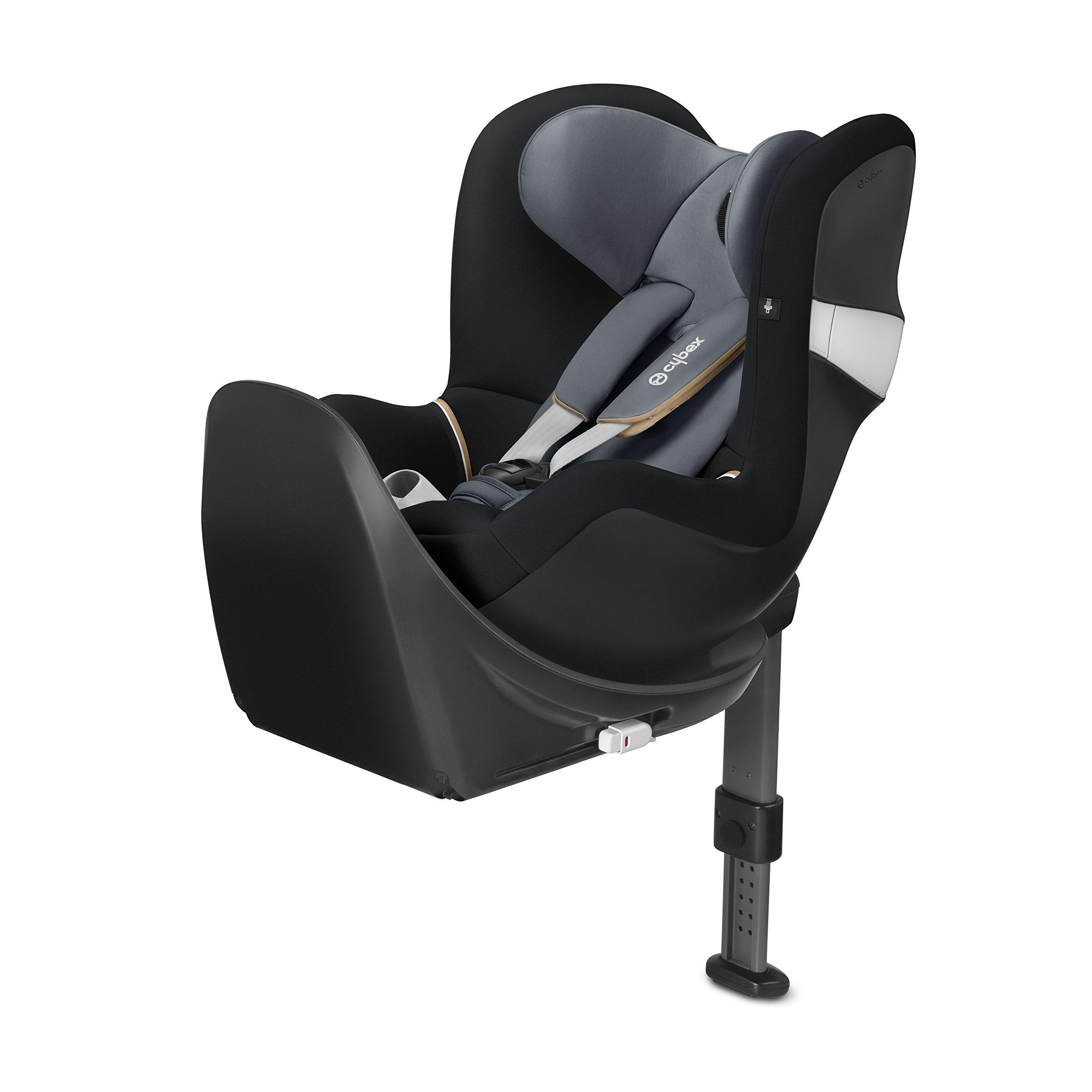 CYBEX Sirona M2 I-Size incl. Base M, Car Seat, Graphite Black - Dark Grey
