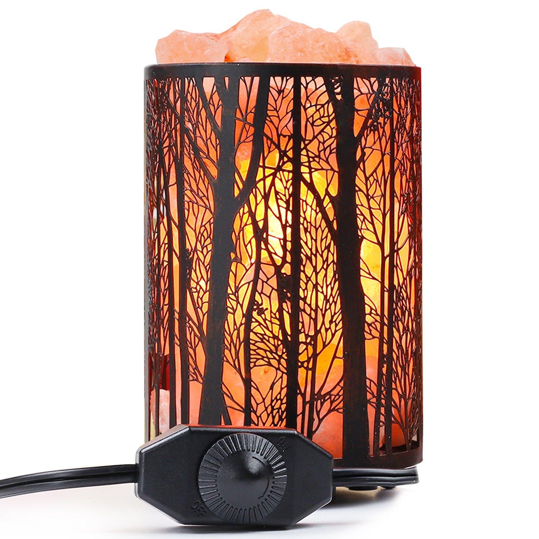 Arvidsson Himalayan Salt Lamp, Natural Hymalain Pink Rock Salt Lamps Night Light in Metal Basket with Dimmer Switch (4.4-5lbs, 4.1x6.5''), 25Watt Bulb & ETL Certified Cord