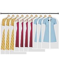 HBselect Lot de 10 PCS Housses de Vêtements Sacs de Protection PEVA Anti-Poussière Transparent Housse,3 x M (80 x 60 cm) 4 x L (100 x 60 cm) 3 x XL (120 x 60 cm)